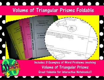 Volume of Triangular Prisms Foldable | Guided Practice