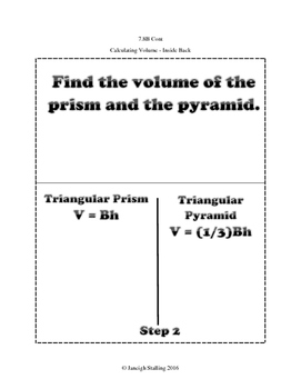 Volume of Triangular Prisms & Pyramids INB TEKS 7.8B