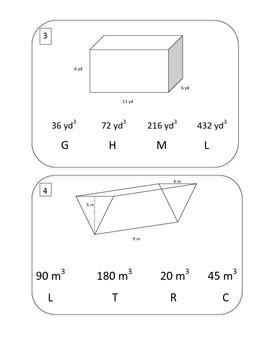 Volume of Triangular Prisms Scavenger Hunt