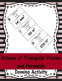 Volume of Triangular Prisms and Pyramids Domino Activity