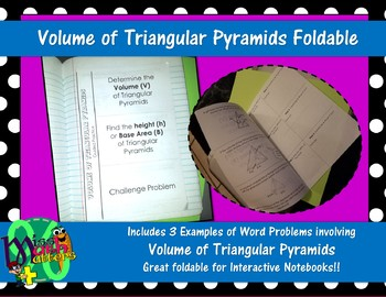 Volume of Triangular Pyramids Foldable | Guided Practice