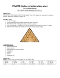 Volume of a Cube, Pyramid, and Prisms Game Puzzle with Worksheet