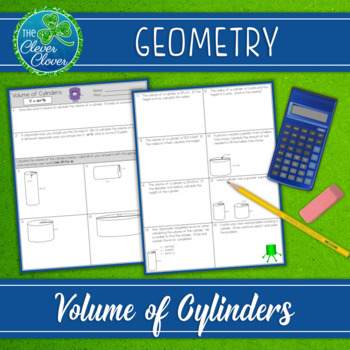 Volume of Cylinders Worksheets
