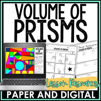 Volume of Prisms Lesson Bundle