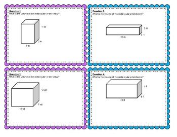 Volume of a Rectangular Prism Board Game