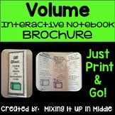 Volume of a Rectangular Prism Brochure for Interactive Notebooks