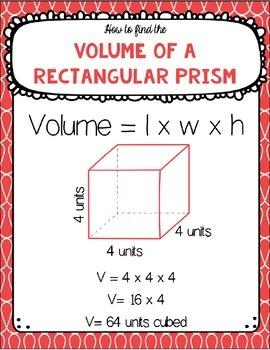 Volume of a Rectangular Prism - Hands-on Math Center
