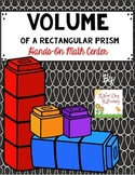 Volume of a Rectangular Prism - Hands-on Math Center