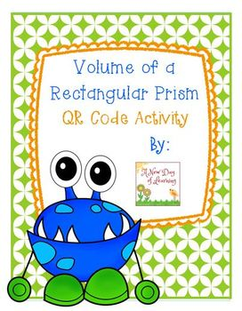 Volume of a Rectangular Prism - QR Code Activity