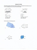 Volume of a Rectangular and Triangular Prism