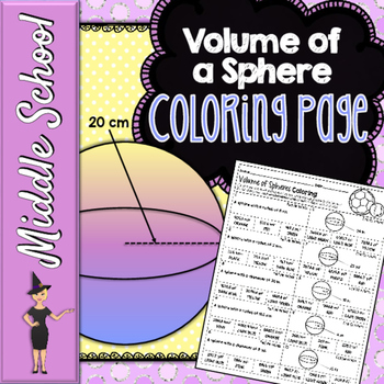Volume of a Sphere Coloring Page