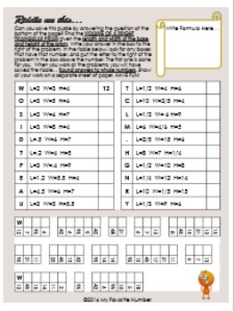 Finding Volume of a Right Triangular Prism RIDDLE Activity Worksheet It's Fun!
