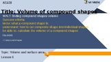 Volume of compound shapes