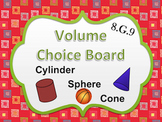 Volume of solids Choice Board