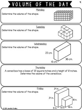 Volume of the Day {Common Core Aligned}