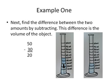 Volume using water displacement