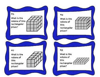 Task Cards- Volume with Cubes {MACC.5.MD.3.3}