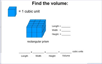 Volume with Cubic Units Introductory Unit