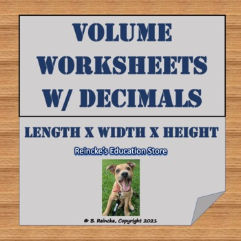 Volume with Decimals Worksheets