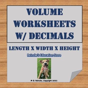 Volume with Decimals Worksheets