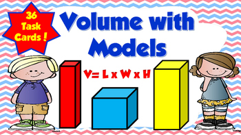 Volume with Models Task Cards