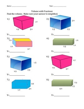 Volume with fractions