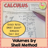 Volumes by Shell Method (Calculus - Unit 6)