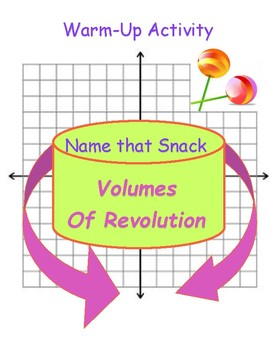 Volumes of Revolution Name That Snack Warm Up