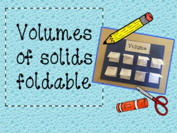 Volumes of solids foldable