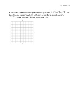 Volumes of solids with cross-sections AP Calculus AB