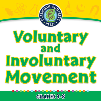 Voluntary and Involuntary Movement - NOTEBOOK Gr. 3-8