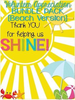 Volunteer Appreciation {BEACH version} BUNDLE