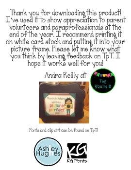 Volunteer Appreciation Printable Freebie