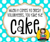 Volunteer Appreciation Tag | Cake