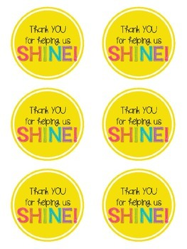 Volunteer Appreciation Tags & Poster {Thank you for helping us shine!}
