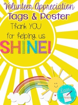 Volunteer Appreciation Tags & Poster {Thank you for helpin