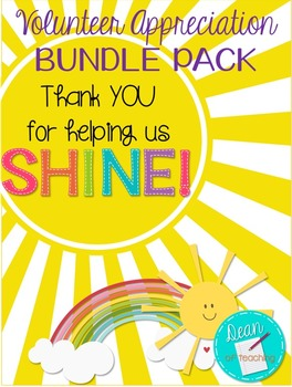 Volunteer Appreciation BUNDLE {Thank you for helping us shine!}