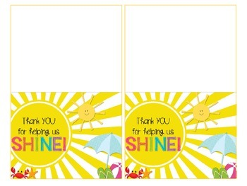 Volunteer Appreciation Thank You Cards {BEACH version}