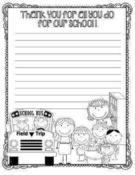 Volunteer Appreciation Writing Paper