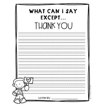 Volunteer Appreciation Writing Prompt and Craft FREEBIE