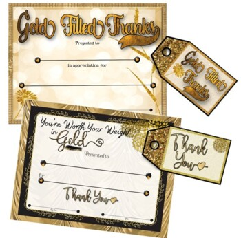 Volunteer Appreciation/Thank You Certificates {Gold Theme}