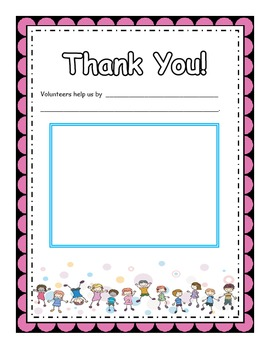 Volunteer Apprication Song (mp3s) Piano/vocal score, Thank You Cards