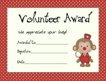 Volunteer Award Pack