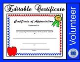 Volunteer Certificate - Editable