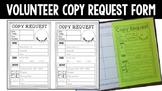 Volunteer Copy Request Form