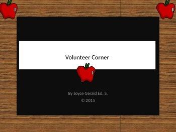 Volunteer Corner