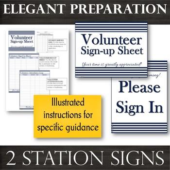 Volunteer Documentation Pack --Navy : Sign-Up --Time-Sheet --Student Service Log