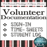 Volunteer Documentation Pack: Sign-Up --- Time-Sheet --- Student Service Log