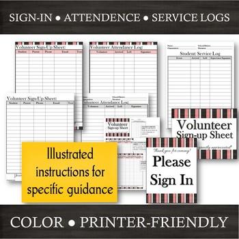 Volunteer Documentation Pack: Sign-Up --- Time-Sheet --- Student Service Log