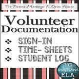 Volunteer Documentation BUNDLE: Sign-Up --- Time-Sheet ---